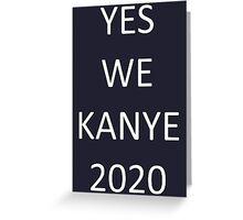 Kanye West 2020 Greeting Card
