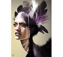 Lady Purple Photographic Print