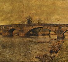 Vintage Edisford Bridge, Clitheroe, Lancs, UK. by Sandra Cockayne