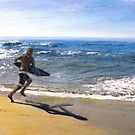 Skim Boarding at Pearl Beach by Randy Sprout