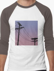Power Lines: Purple version Men's Baseball ¾ T-Shirt