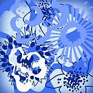 Bursting Blue Colour Splash Floral Version 1 (see description) by Ra12
