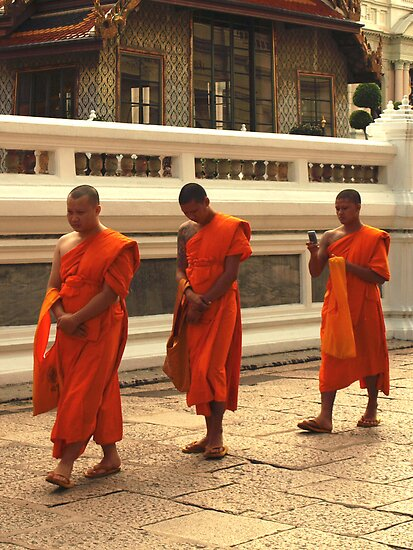 three monks one telephone by markmccall
