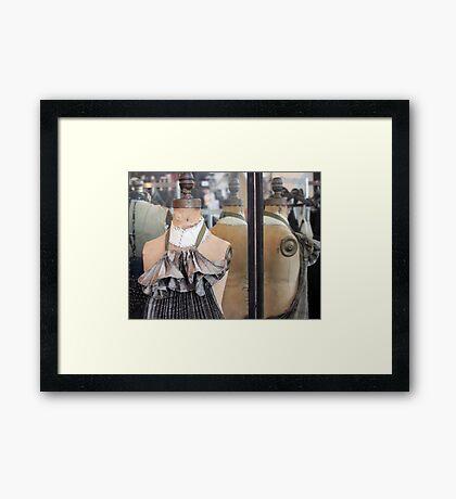 Mirror, Mannequin Framed Print