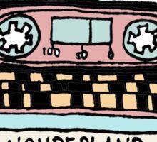 wonderland casette Sticker