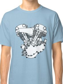 Knucklehead diagram (Black and white) Classic T-Shirt