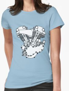 Knucklehead diagram (Black and white) Womens Fitted T-Shirt