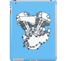 Knucklehead diagram (Black and white) iPad Case/Skin