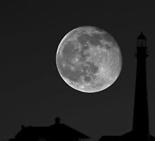 Lighthouse Moon by SuddenJim