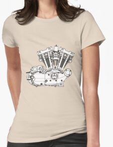 Ironhead Sportster Diagram (Black and White). Womens Fitted T-Shirt