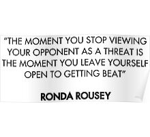 Ronda Rousey Quote Poster