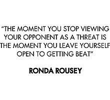Ronda Rousey Quote Photographic Print