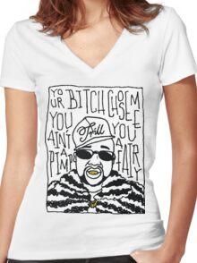 Pimp C Women's Fitted V-Neck T-Shirt