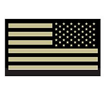 AMERICAN ARMY, Soldier, American Military, Arm Flag, US Military, IR, Infrared, USA, Flag Photographic Print