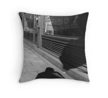Shadowy Figure Throw Pillow