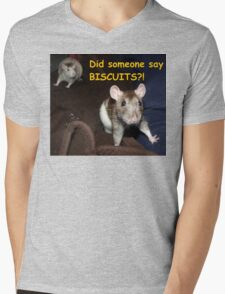 did someone say biscuits? Mens V-Neck T-Shirt
