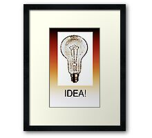 IDEA! Framed Print