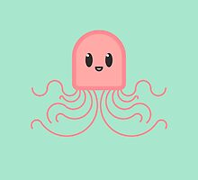 bold kawaii jellyfish by smudgy