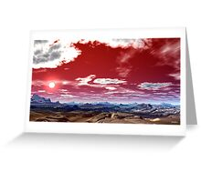 """""""RED PRAYER TO GOD"""" Greeting Card"""