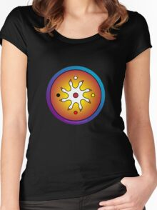 the precious ones... a sacred drum design... Women's Fitted Scoop T-Shirt