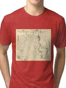 World War II Twelfth Army Group Situation Map October 11 1944 Tri-blend T-Shirt