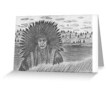 Native Chief Greeting Card