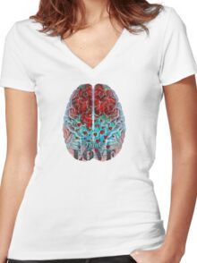 Heart Art - Think Love - By Sharon Cummings Women's Fitted V-Neck T-Shirt