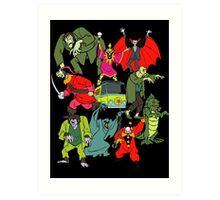 Scooby Doo Villians Art Print