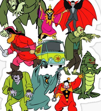 Scooby Doo Villians Sticker