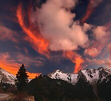 Color explosion over Agrafa mountains by Hercules Milas