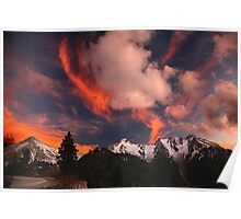 Color explosion over Agrafa mountains Poster