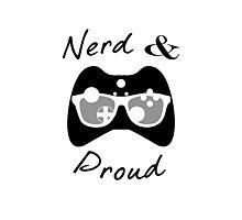 Nerd & Proud (dark) Photographic Print