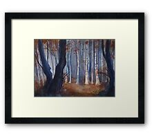 Dusk, Birch Wood Framed Print
