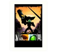 Ratchet & Clank - Strips Horizon Art Print