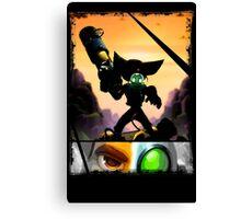 Ratchet & Clank - Strips Horizon Canvas Print