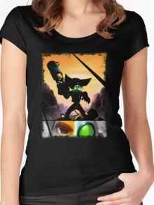 Ratchet & Clank - Strips Horizon Women's Fitted Scoop T-Shirt