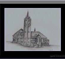 Town Hall, Massachusetts by PoeticHeartArt