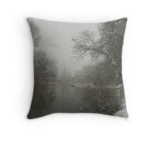 Snowing Throw Pillow
