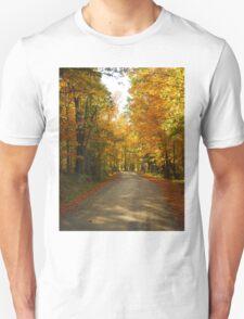Autumn Road in Willimantic Maine Unisex T-Shirt