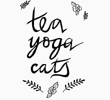 Tea, Yoga, Cats Unisex T-Shirt