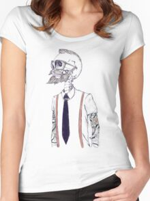 The Gentleman becomes a Hipster Women's Fitted Scoop T-Shirt