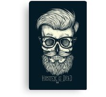 Hipster is Dead II Canvas Print