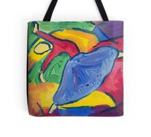 Female Dancer High Step and Arched Back Tote Bag