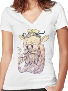 Hello Sailor!! Women's Fitted V-Neck T-Shirt