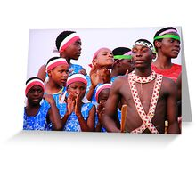 Dance Troupe Greeting Card