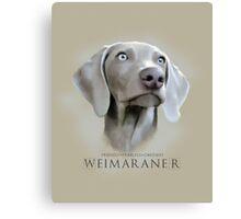 Friendly Fearless Obedient Weimaraner Vertical Canvas Print