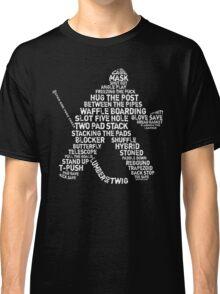 Ice Hockey Goalie Calligram Classic T-Shirt