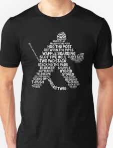 Ice Hockey Goalie Calligram T-Shirt