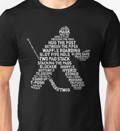 Ice Hockey Goalie Calligram Unisex T-Shirt