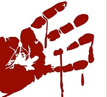 Bloody Hand print by NatalieMirosch